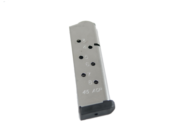 ASC 1911 45acp Stainless Steel 8rd mag Bumper Plate