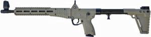 "Kel-Tec SUB-2000 Semi-Auto Rifle SUB2K9GLK17BTAN, 9mm, 16.1"", Tan Synthetic Stock, Black Finish, 17 Rd"
