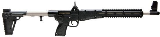 "Kel-Tec SUB-2000 Semi-Auto Rifle SUB2K9G17NBLKHC, 9mm, 16.1"", Black Synthetic Stock, Nickle Boron Finish, 17 Rd"