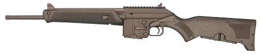 "Kel-Tec SU-16C Semi-Auto Sport Utility Carbine (CA Approved) SU16CA, 223 Remington, 16"", Fixed Synthetic Stock, Blue Finish, 10 Rds"