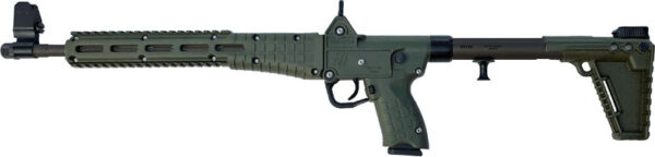 "Kel-Tec SUB-2000 Semi-Auto Rifle SUB2K9GLK17BGRN, 9mm, 16.1"", OD Green Synthetic Stock, Black Finish, 17 Rd"